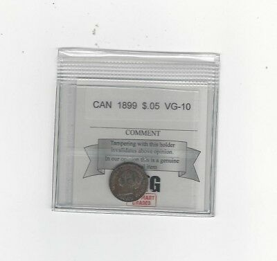 **1899**, Coin Mart Graded Canadian,  5 Cent, **VG-10**