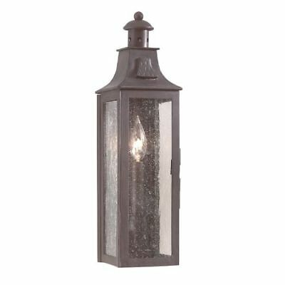 Troy Lighting BCD9007 Old Bronze Newton 1 Light Outdoor Wall Sconce with Seedy