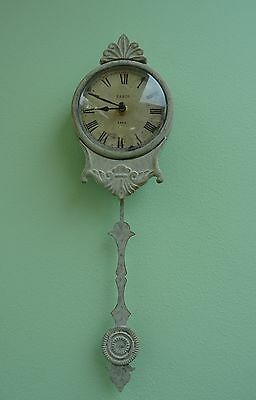 Shabby Chic Cream Vintage Antique Style Pendulum Wall Clock