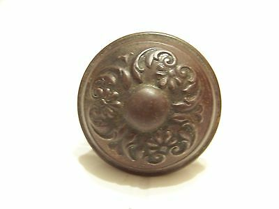 Vintage very ornate metal door knob handle hardware architectural pull