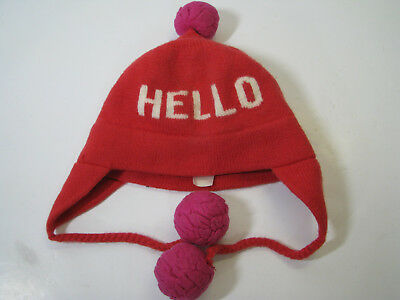 8dd3ad3fae5a KATE SPADE Wool Sweater Knit BEANIE SKI HAT CAP Pom-Pom HELLO GOOD-BYE