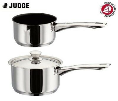 Judge Platina Stainless Steel Induction Saucepan Milk Pan 14cm, 16cm, 18cm, 20cm