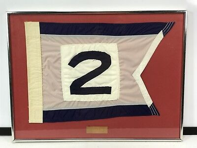 1973 US Navy COMPATWING 2 Framed Pennant