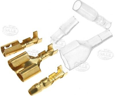 40 Sets Motorcycle Truck Bullet Connectors 3.9mm Terminals Male/Female & Double