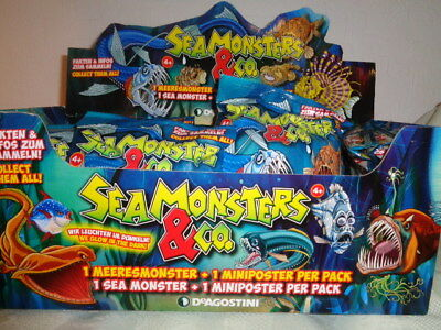 Sea Monsters & Co DeAgostino 1 Booster bis 3 Display  Sammelfigur  OVP NEU