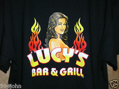 T-SHIRT FROM LUCY'S BAR AND GRILL AT THE LUCKY CLUB CASINO  X L New!!