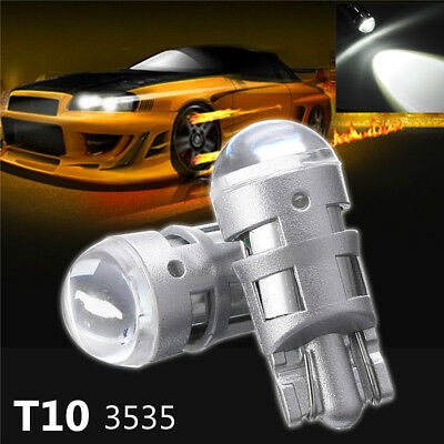 2x T10 194 168 W5W 3535-SMD LED Bulb License Plate Light Width Lamp White 6000K