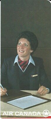 Ticket Jacket - Air Canada - Agent with Pen - c1980  (J1944)