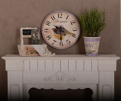 Shabby Chic Wall Clock Antique Look Lavender Vintage Kitchen Clock