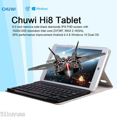 "8"" Chuwi Hi8 32GB+2GB Tablet PC Android4.4+Windows10 Quad Core WiFi OTG 2Cámara"