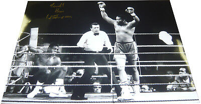 Tim Witherspoon SIGNED AUTOGRAPH 16x12 Frank Bruno Wembley Boxing AFTAL UACC