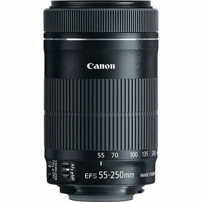 Canon EF-S 55-250mm f/4-5.6 IS STM Zoom Lens - White Box UU