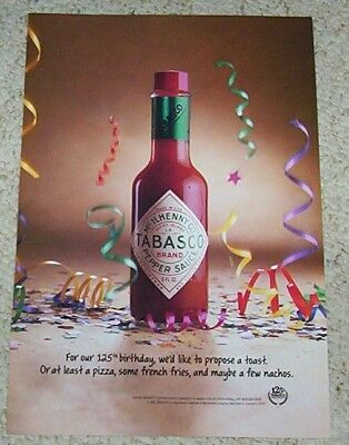 1993 ad page - TABASCO McIlhenny Pepper Sauce 125th Birthday ADVERT