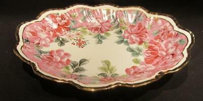 Formalities by Baum Brothers Beautiful Hand Decorated Rose & Floral Design Dish
