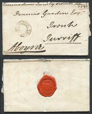 1798 entire with a fine strike of the double ring undated Kincardine/Oniel