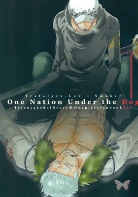 One Piece YAOI Doujinshi Dojinshi Comic Law x Smoker One Nation Under The Secco