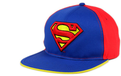 free shipping new style limited guantity SUPERMAN DC COMICS Flatbill Felt Cap Hat Snapback $30 Blue Red ...