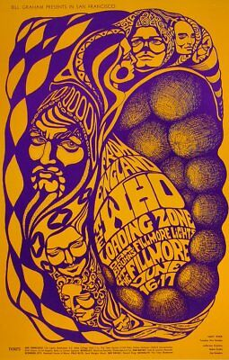 THE WHO Loading Zone Fillmore Concert Handbill 1967 BG 68 Bonnie Maclean