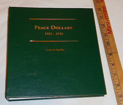 vintage Peace silver Dollars 1921 - 1935 Archival Quality binder Unused,empty