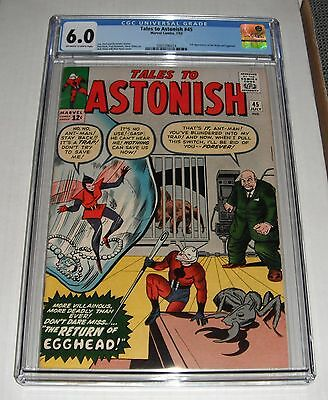 Tales to Astonish  # 45...CGC Universal slab 6.0   grade--de...1963..2nd Wasp