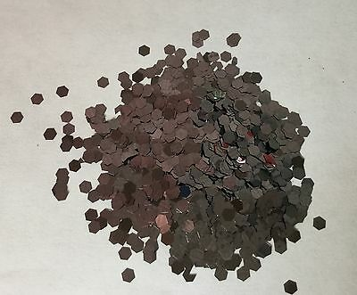 100g CHUNKY GLITTER 3mm GUNMETAL LARGE HEXAGON SEQUIN FESTIVAL FACE 125hex NAILS