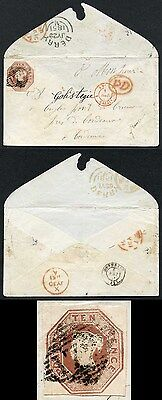 10d Embossed on Envelope from Derry