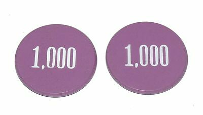 Lammers Buttons 1,000 Purple Gambing Poker