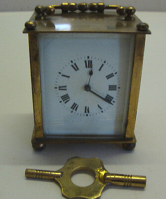 Early 20th century brass cased carriage clock made in France