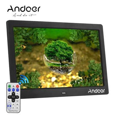 """10""""inch HD 16:9 LED Digital Photo Frame Picture MP3 MP4 Movie Player Remote W8F3"""