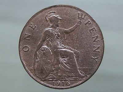 1916 WW1 Penny - Fancy a Gamble with This Coin?! - FREE POSTAGE (H95)