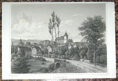 TOPP-Stahlstich 1850: SONTRA