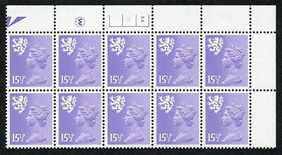 S-JCD15.5A 15.5p Pale Violet Scotland Waddington PCP/PVAD 5A/3B No Dot U/M