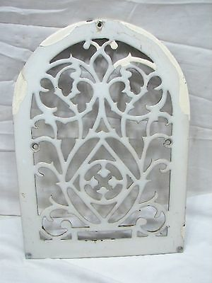 Arch Top Cast Iron Wall Register Heat Grate Vent Grille Architectural Enamel