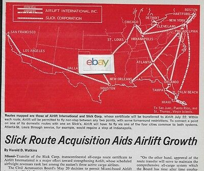 Airlift International Route Acquisition Slick Airways 1968 2 Pg Artcle Route Map