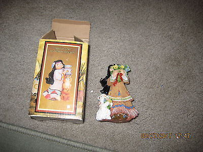 Indian Girl 1998 W/animal Friends Figure
