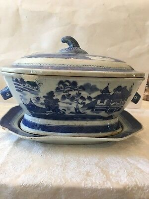 Antique Chinese Export Tureen And Underplate