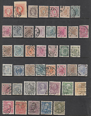 AUSTRIA Early Collection On hagner Sheet FINE USED Cat$68+