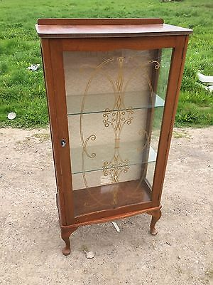 Vintage Display Cabinet Ideal Upcycle Project Or Shop Display Unit  17/4/Y