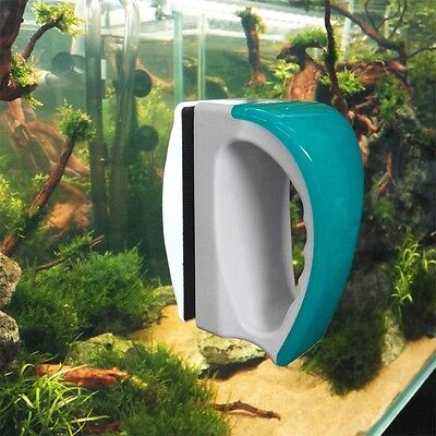 Magnetic Aquarium Fish Tank Algae Glass Cleaner Scraper Floating Clean Brush New