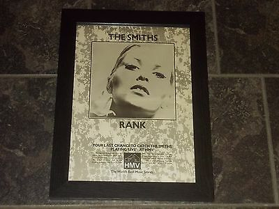 The Smiths-Rank-1988 original poster sized advert framed