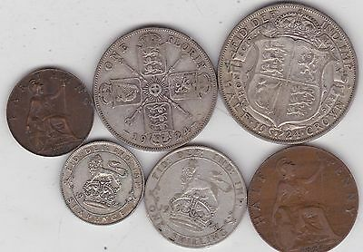 1924 George V Part Set Of 6 Coins In A Good Fine Or Better Condition