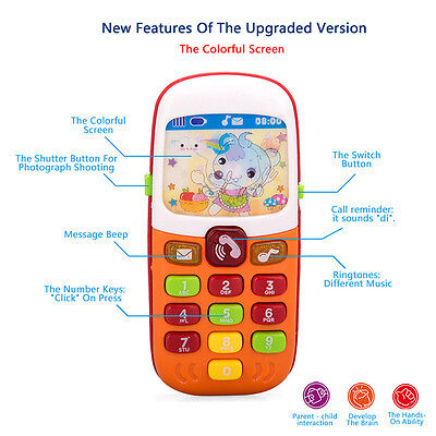 Baby Kids Simulator Music Phone W/ Light Kid Educational Learning Toy Gift