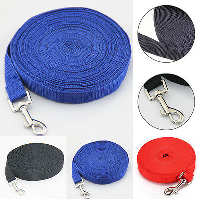 Nylon 4 Colors Obedience Recall Doggie Pet Training Rope Dog Puppy Lead Leash