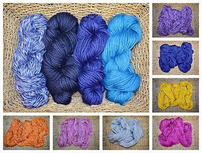 Real Welsh Super Chunky Large 200 gr Wool Skein Handspun 100% Natural Knitting