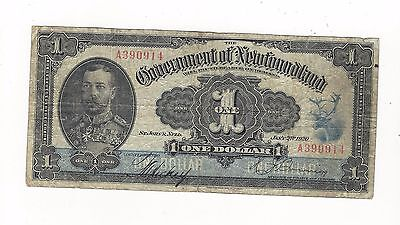 **1920**Government Of Newfoundland $1 Treasury Note, NF-12d (A390914)