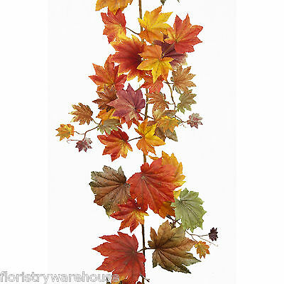 6ft Autumn leaves artificial silk display decoration garland 1.82m maple leaf