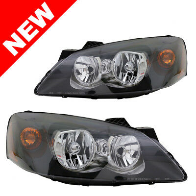 05-10 Pontiac G6 Headlights - Black/Clear/Amber