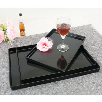 Melamine Tray European Style Tea Serving Tray Hotel Guest Room Black Dishes