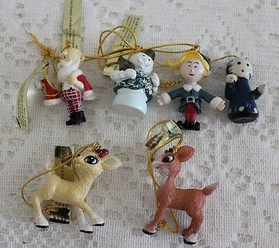 Rudolph The Red Nosed Reindeer Miniature Ornaments Enesco