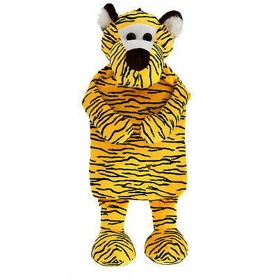 HUGGABLES TIGER 2l Hot Water Bottle Soft Jungle Friends For Adults